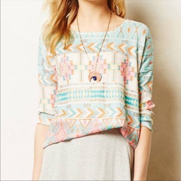d8181624a5ce2 Anthropologie Sweaters - Anthro Akemi + Kin Morgana Aztec Pullover Sweater